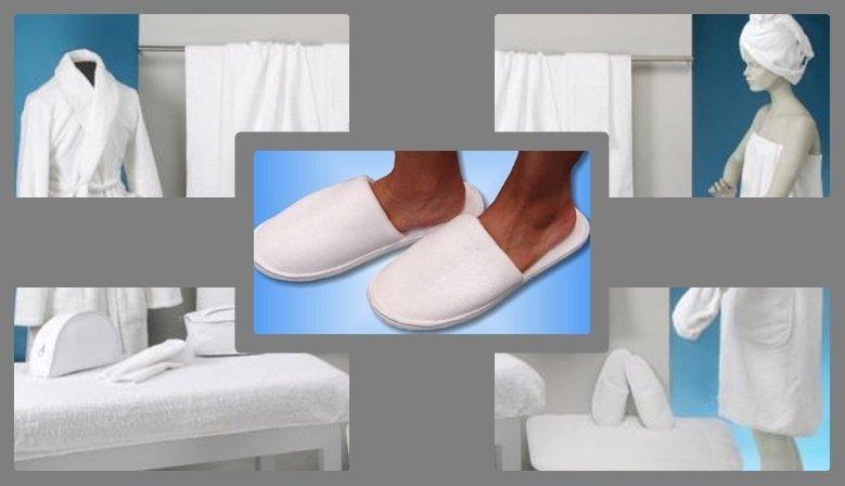 artículos de rizo para spa y estética