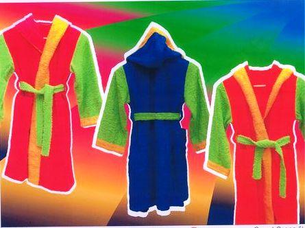 Albornoces de colores con capucha