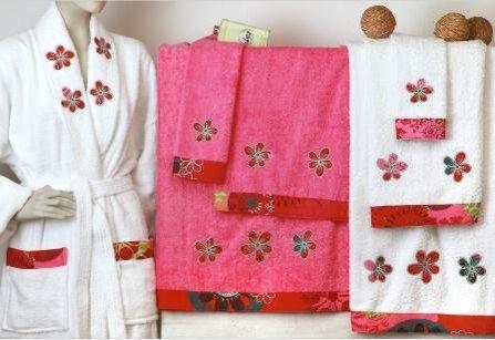 Juegos de toallas bordadas