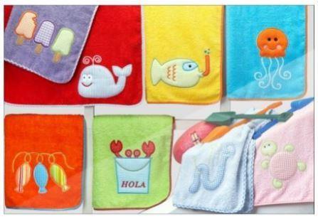 Toallas para bebes bordadas