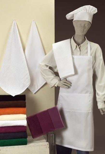 Linea de cocina, paños de cocina, delantales para hotel