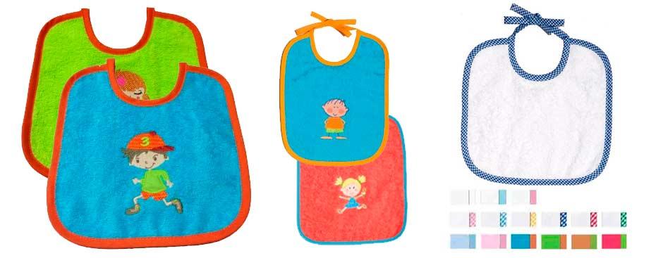 Baberos bordados para bebés