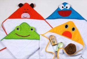 capas de baño para bebés, divertidas