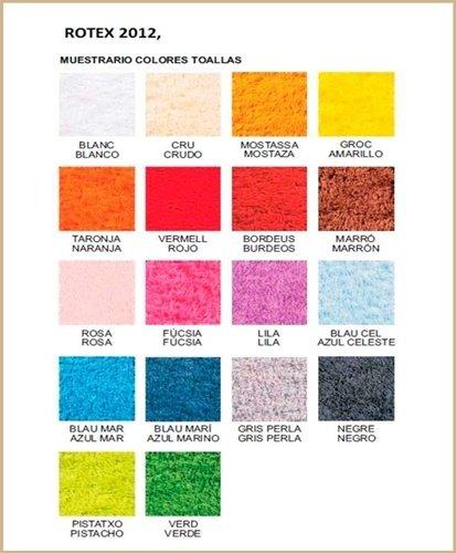 Carta de colores toallas