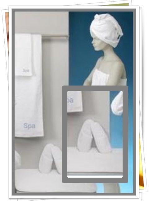 Juego de toallas textiles de estética