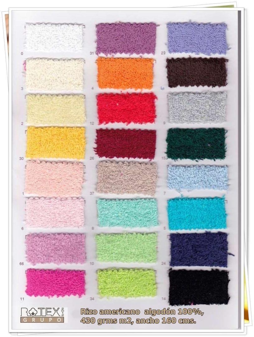 carta de colores Ponchos