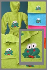 Toallas infantiles Frog